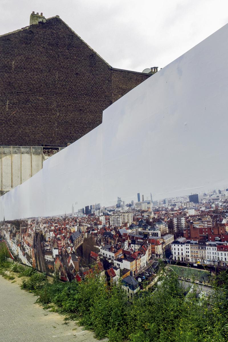 Living Expo, création de panoramiques placés dans la commune de Molenbeek. Bruxelles, 2013.